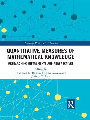 cover image of Quantitative Measures of Mathematical Knowledge