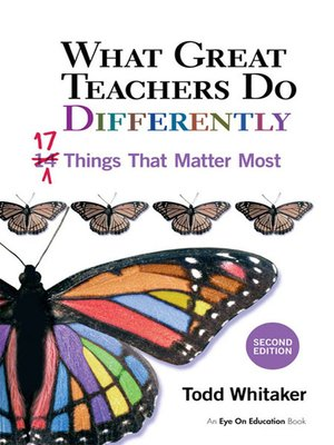 cover image of What Great Teachers Do Differently