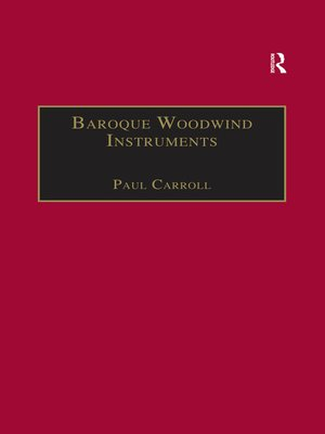 cover image of Baroque Woodwind Instruments