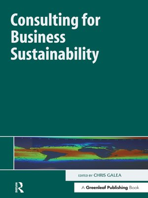 cover image of Consulting for Business Sustainability