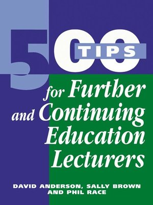 cover image of 500 Tips for Further and Continuing Education Lecturers