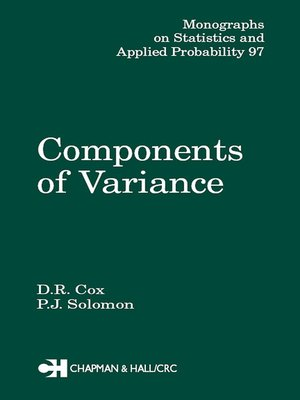 cover image of Components of Variance