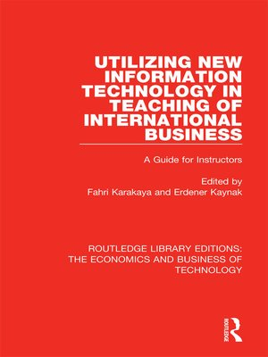 cover image of Utilizing New Information Technology in Teaching of International Business