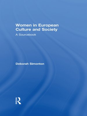 cover image of Women in European Culture and Society