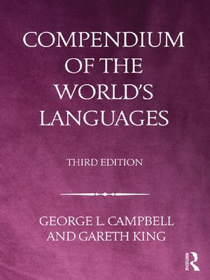 cover image of Compendium of the World's Languages