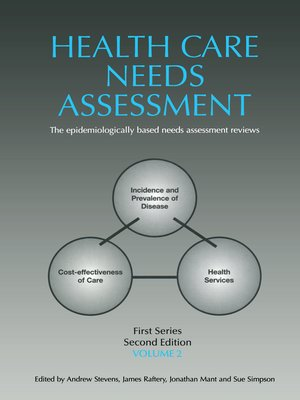 cover image of Health Care Needs Assessment, First Series, Volume 2
