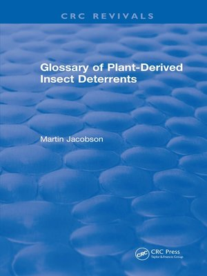 cover image of Glossary of Plant Derived Insect Deterrents