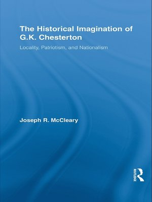 cover image of The Historical Imagination of G.K. Chesterton