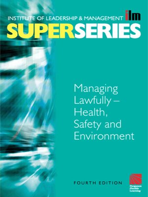 cover image of Managing Lawfully--Health, Safety and Environment