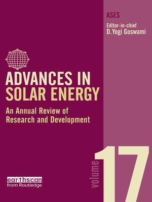 cover image of Volume 17: An Annual Review of Research and Development in Renewable Energy Technologies