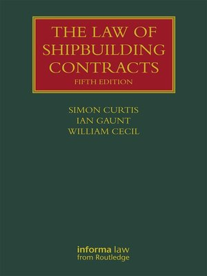 cover image of The Law of Shipbuilding Contracts