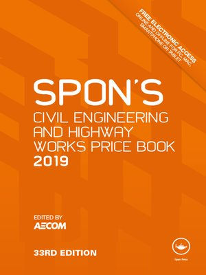 cover image of Spon's Civil Engineering and Highway Works Price Book 2019