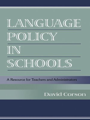 cover image of Language Policy in Schools