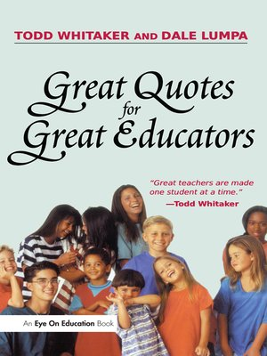cover image of Great Quotes for Great Educators