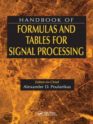 cover image of Handbook of Formulas and Tables for Signal Processing