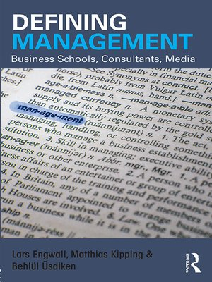 cover image of Defining Management
