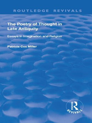 cover image of hThe Poetry of Thought in Late Antiquity