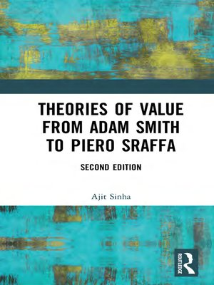 cover image of Theories of Value from Adam Smith to Piero Sraffa