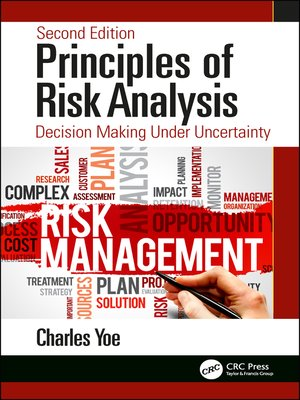 cover image of Principles of Risk Analysis