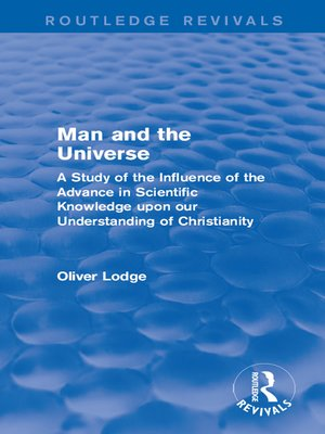 cover image of Man and the Universe