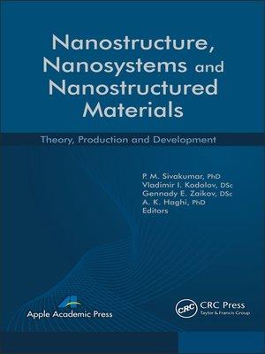 cover image of Nanostructure, Nanosystems, and Nanostructured Materials