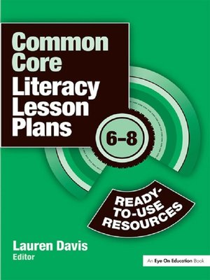 cover image of Common Core Literacy Lesson Plans