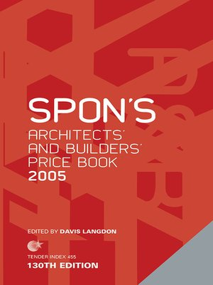 cover image of Spon's Architects' and Builders' Price Book 2005