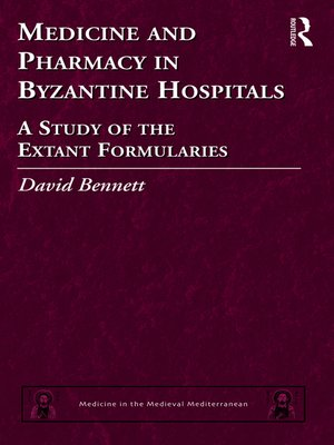 cover image of Medicine and Pharmacy in Byzantine Hospitals