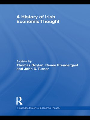 cover image of A History of Irish Economic Thought