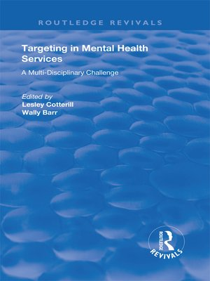 cover image of Targeting in Mental Health Services