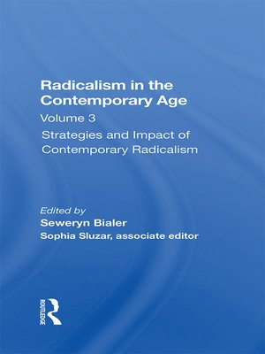 cover image of Radicalism In the Contemporary Age, Volume 3