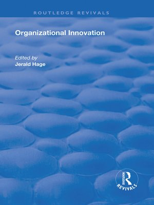cover image of Organizational Innovation