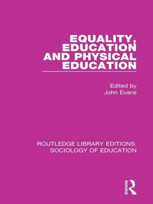 cover image of Equality, Education, and Physical Education