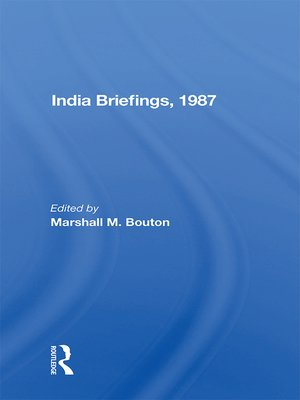 cover image of India Briefing, 1987