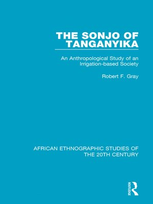 cover image of The Sonjo of Tanganyika