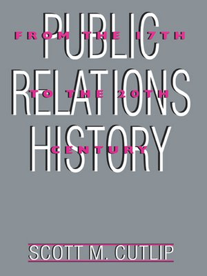 cover image of Public Relations History