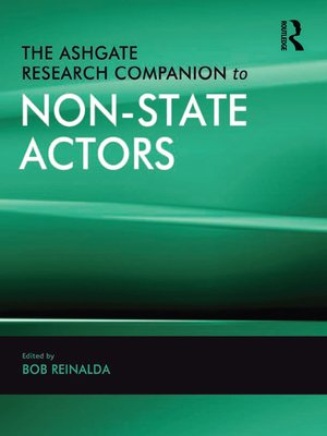 cover image of The Ashgate Research Companion to Non-State Actors