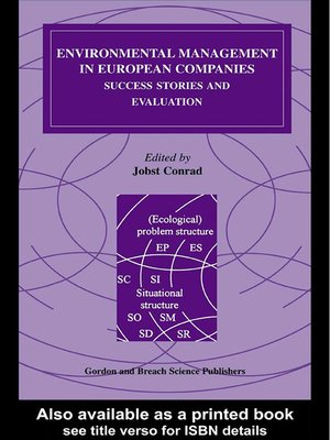 cover image of Environmental Management in European Companies