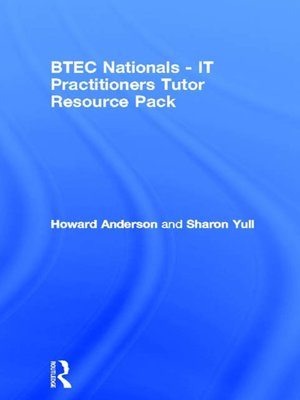 cover image of BTEC Nationals--IT Practitioners Tutor Resource Pack