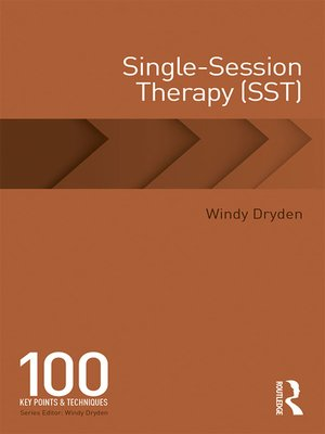 cover image of Single-Session Therapy (SST)