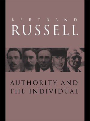 cover image of Authority and the Individual