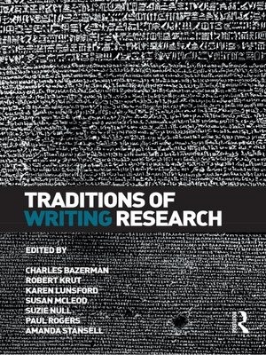 cover image of Traditions of Writing Research