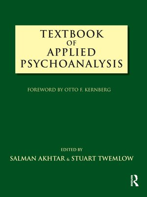 cover image of Textbook of Applied Psychoanalysis