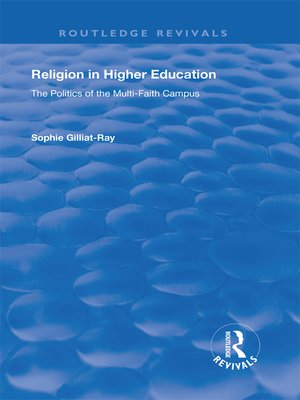 cover image of Religion in Higher Education