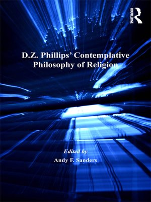 cover image of D.Z. Phillips' Contemplative Philosophy of Religion