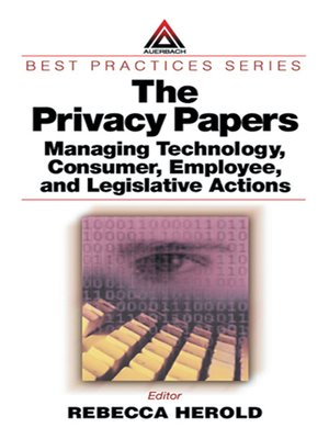 cover image of The Privacy Papers