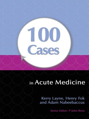 cover image of 100 Cases in Acute Medicine
