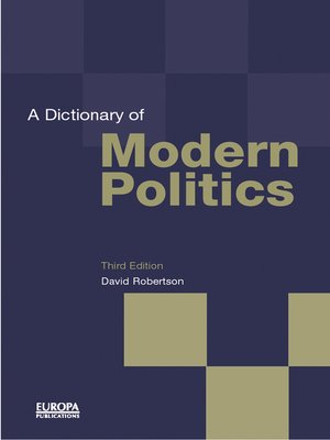 cover image of A Dictionary of Modern Politics