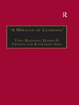 cover image of 'A Miracle of Learning'