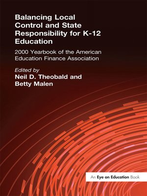 cover image of Balancing Local Control and State Responsibility for K-12 Education